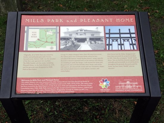 Information Board Picture Of Mills Park Oak Park Tripadvisor