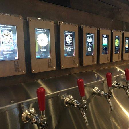 Cool craft beer self service bar