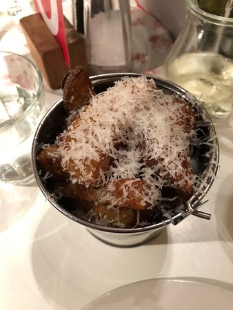 Jam Jar: Posh chips, truffle oil and parmesan
