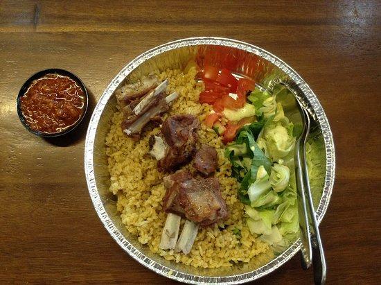 Sei Sapi Marase: Grilled lamb with biryani local rice, small