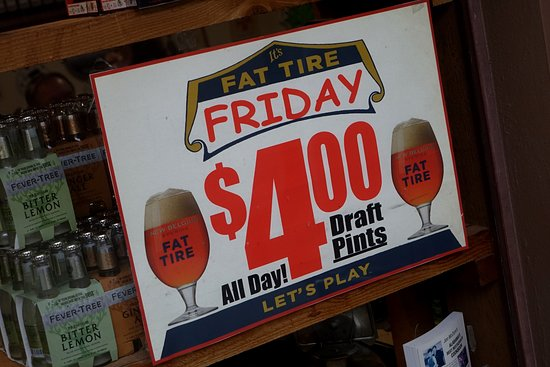 Vestavia Hills, Алабама: $4.00 Friday Fat Tire drafts - best to check if this is still offered
