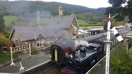 The ultimate in excitement two trains at Carrog