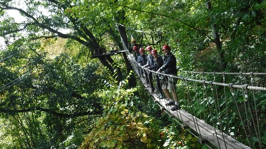 Barnardsville, NC: safe and scary rope bridges