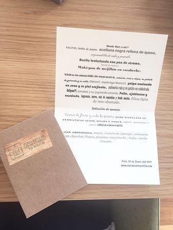 Poio, إسبانيا: Menú