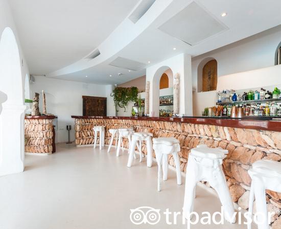 By the Pool Bar at the Hacienda Na Xamena, Ibiza