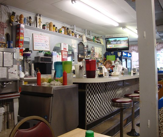 Franklin, WV: An interior view of the counter