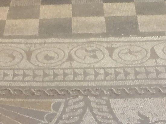 Fishbourne Roman Palace: Spot the blackbird