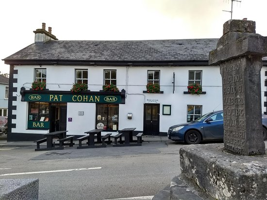 Pat Cohan's Bar: From the street as you enter town from the east side.