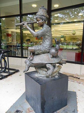 Oak Park Public Library: a statue
