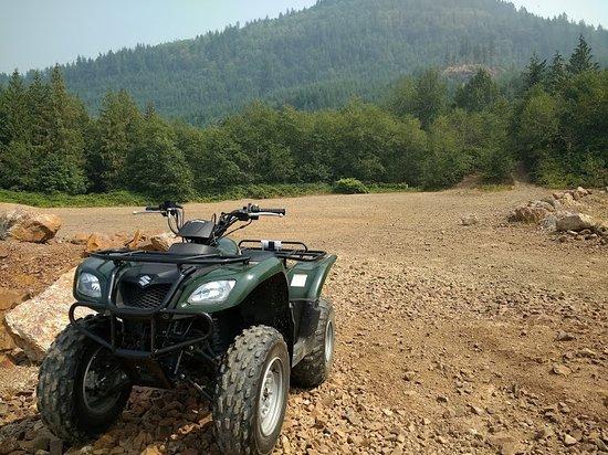 Mount Vernon, Waszyngton: Green Suzuki 250