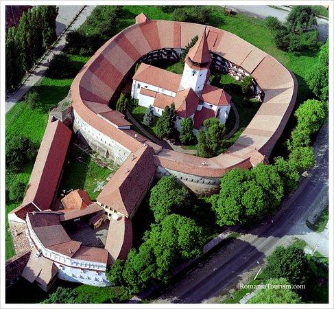 Prejmer, Rumänien: La citadelle et l'église.