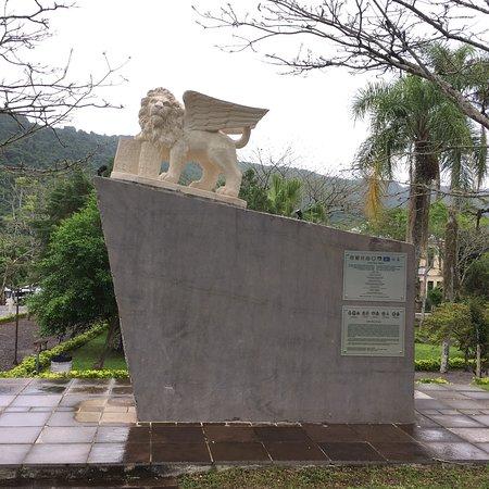 Praça central de Santa Tereza, RS