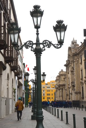 Pedestrian street in Historic Lima