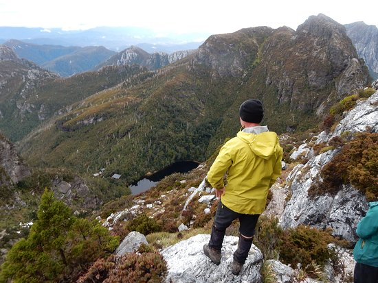 Looking down to Lake Tahune from Frenchman's Cap