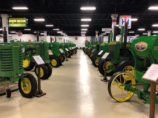 Keystone Tractor Works: Rows of John Deere Tractors