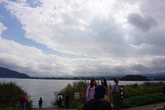 Lake Kawaguchiko: the best weather we met on that day