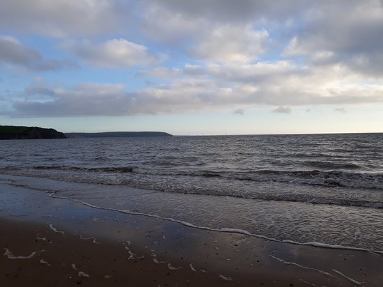 Beautiful saturday evening walk on duncannon beach followed by fab food in roches..