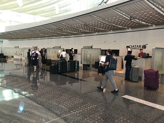 Qatar Airways: Business Class Check-in Counters
