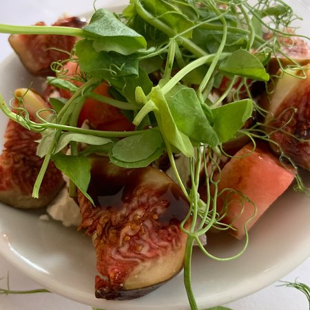 Brasted, UK: Fig, Watermelon and Feta Salad as a Starter