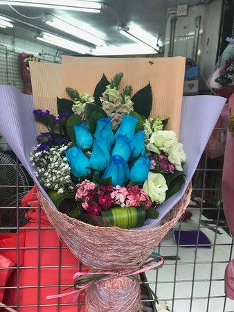 Flower Market Road: flores de todas as cores