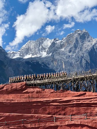 51 Adventures: Lijiang Impressions Show set against Jade Dragon Snow Mountain
