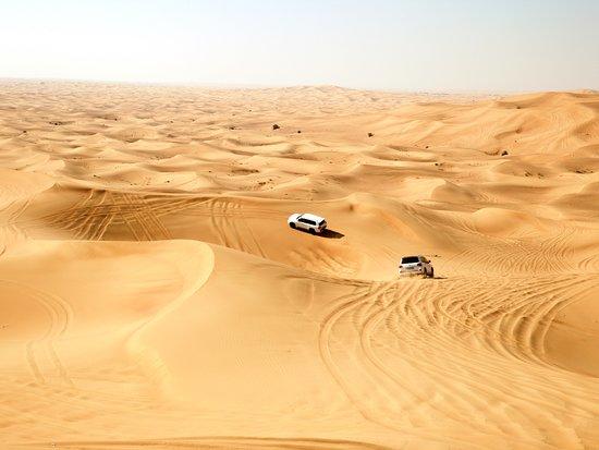 Dream Journey: Vehicles slip and slide through the desert dunes