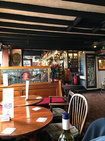 View from inside the bar