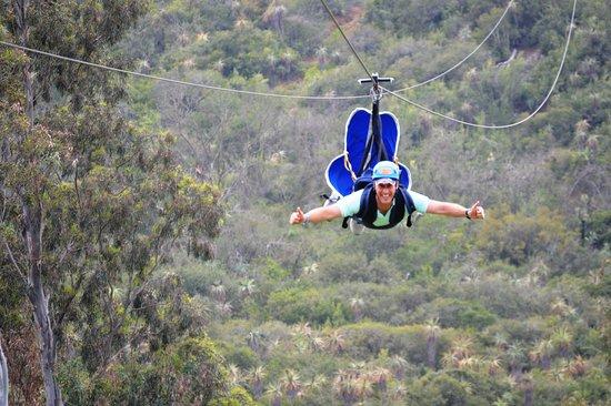 Sundays River Valley, جنوب أفريقيا: Best activity in Addo - the Superman Zipline