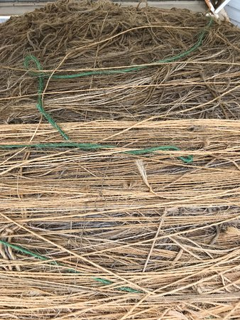 Cawker City, Канзас: close up of the twine