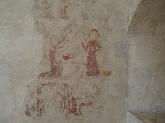 L'Abbaye Royale de l'Epau - Fresque dans le dortoir