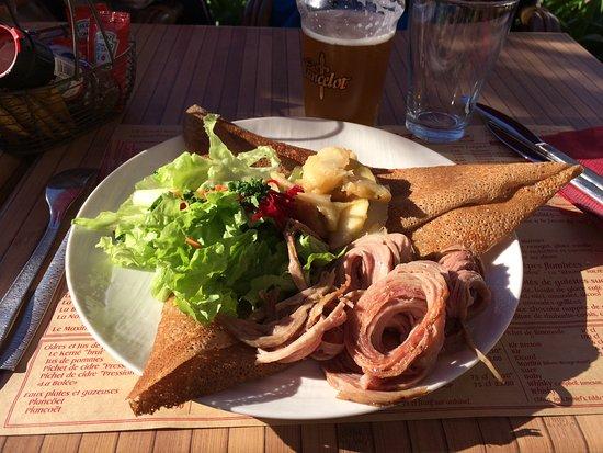 "Ile-de-Batz, Γαλλία: Crepe "" la bretonne"""