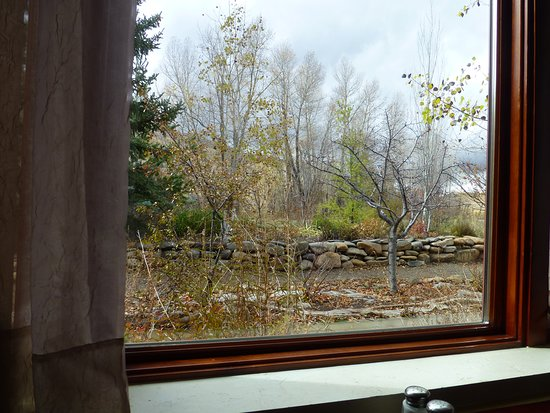 View from our window at the Kennebec Cafe