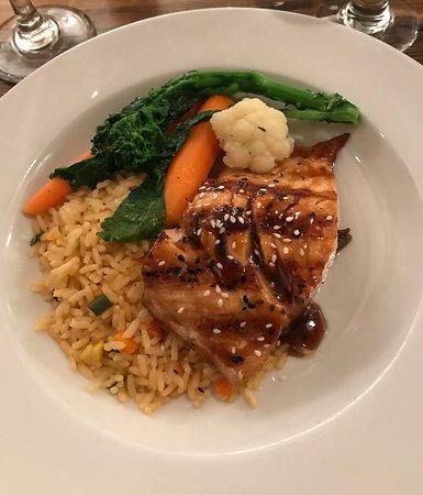 Old Chatham, NY: Salmon with teriyaki sauce