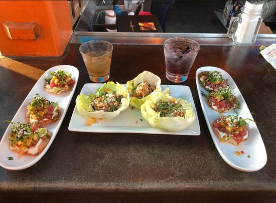 Poke Tostada And Gringo Tacos Lettuce Wrapped Picture Of Pour