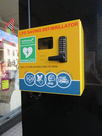 Dorking, UK: Spotted two defibrillators in the town centre