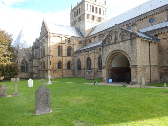 Part of the Minster grounds and the church