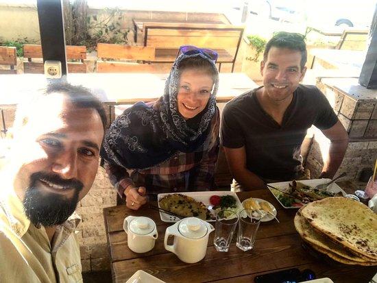 Shahdad, Iran: breakfast in Kerman