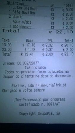 Murtosa, Πορτογαλία: Pagamento