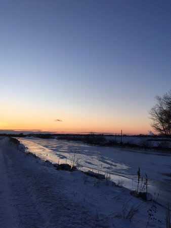 Curtice, OH: The sun setting at Metzger's Marsh.