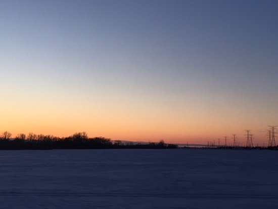 Curtice, OH: Beautiful Winter sunset in Ohio.