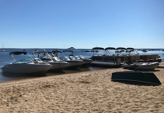 Sebago, ME: Part of the rental fleet being readied for the day!