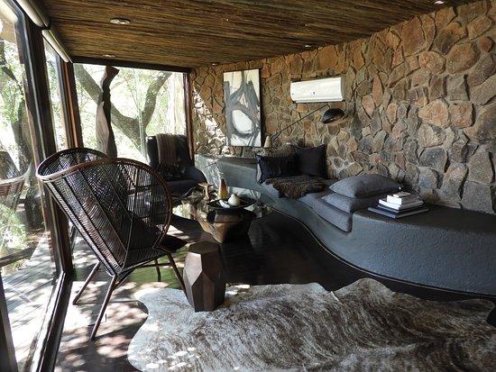 Singita Private Game Reserve, Afrika Selatan: Living Area
