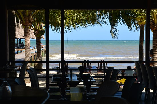View from Maya beach Bar and Dining Area