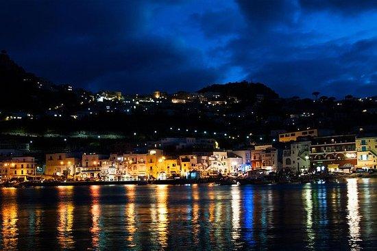 Capri på natten från Sorrento