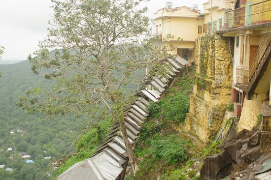 Stairway up Mount Popa
