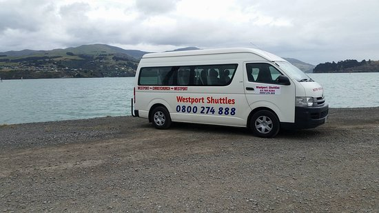 Westport, Nouvelle-Zélande : Shuttle in Christchurch