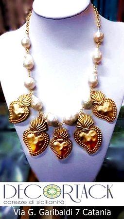 Colla exvoto con perle barocco