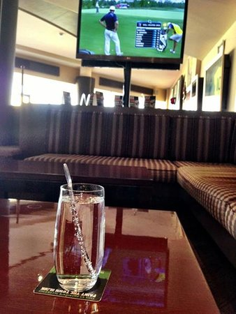 JA Beach Hotel: At the golf club at the hotel.