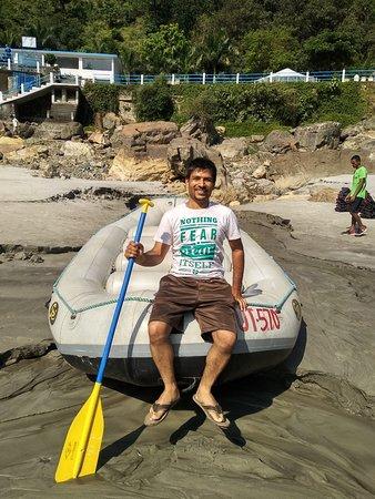 Rishikesh River Rafting: Before Start the Rafting at Marina beach