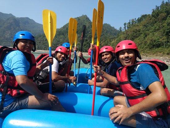 Rishikesh River Rafting: In between the rafting